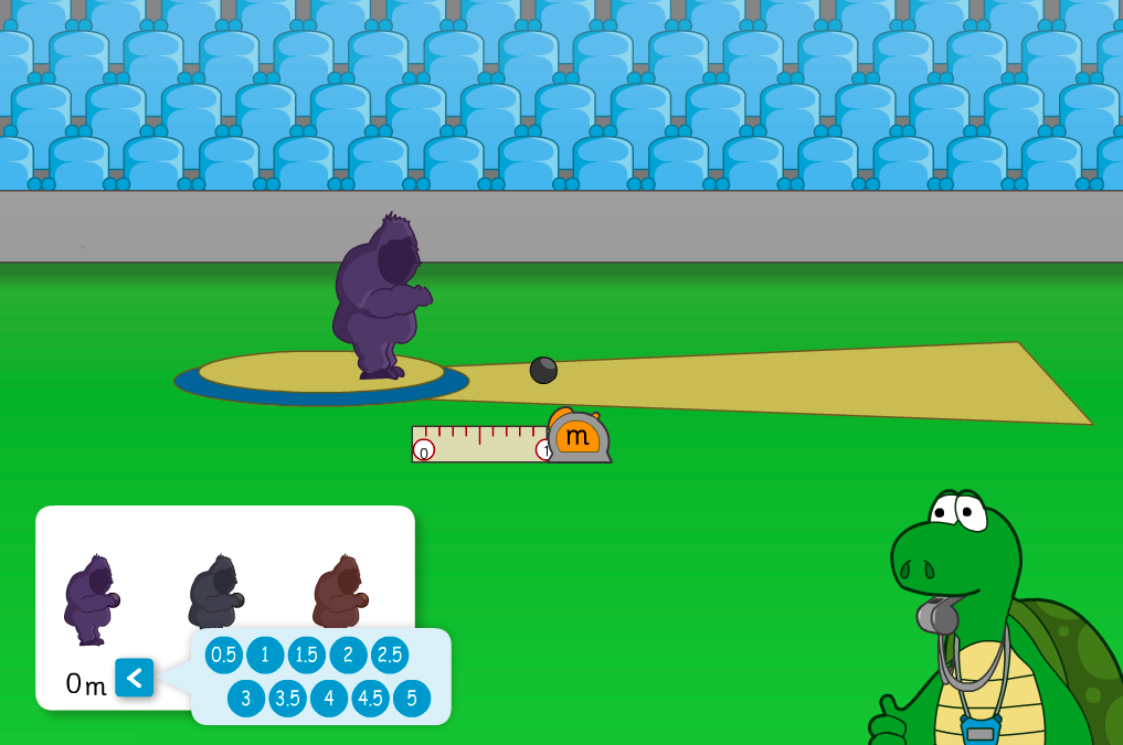 Gorilla Shot Put Interactive Game - KS2 Measurement