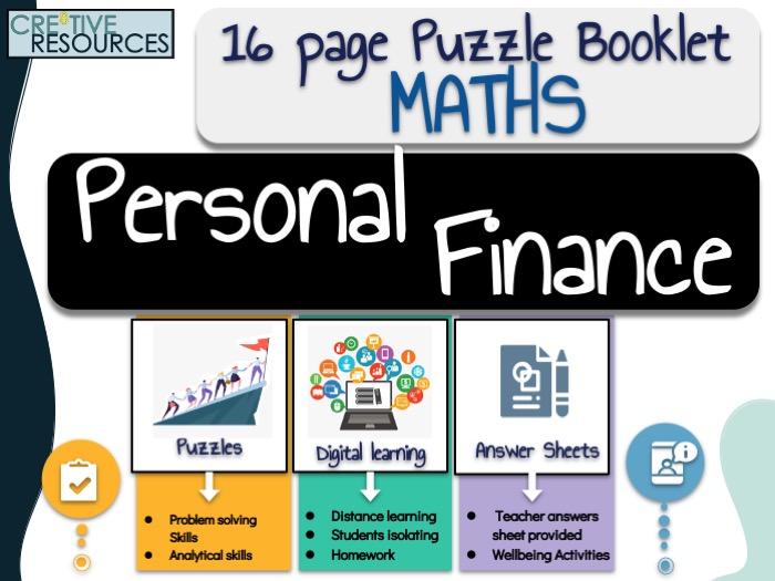 Maths Work Booklet - Personal Finance