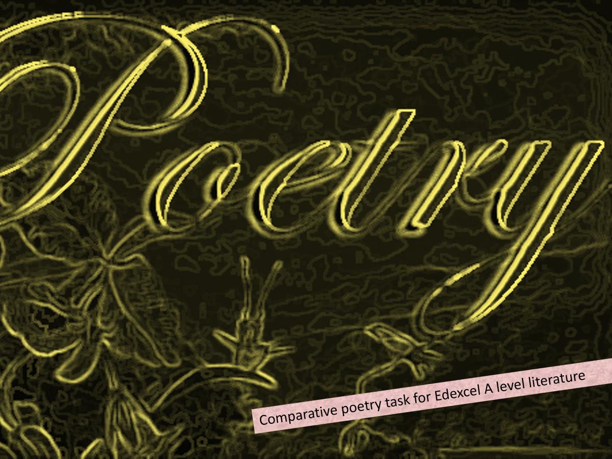 Edexcel 'poems of the decade' COMPARATIVE  poems bundle 1
