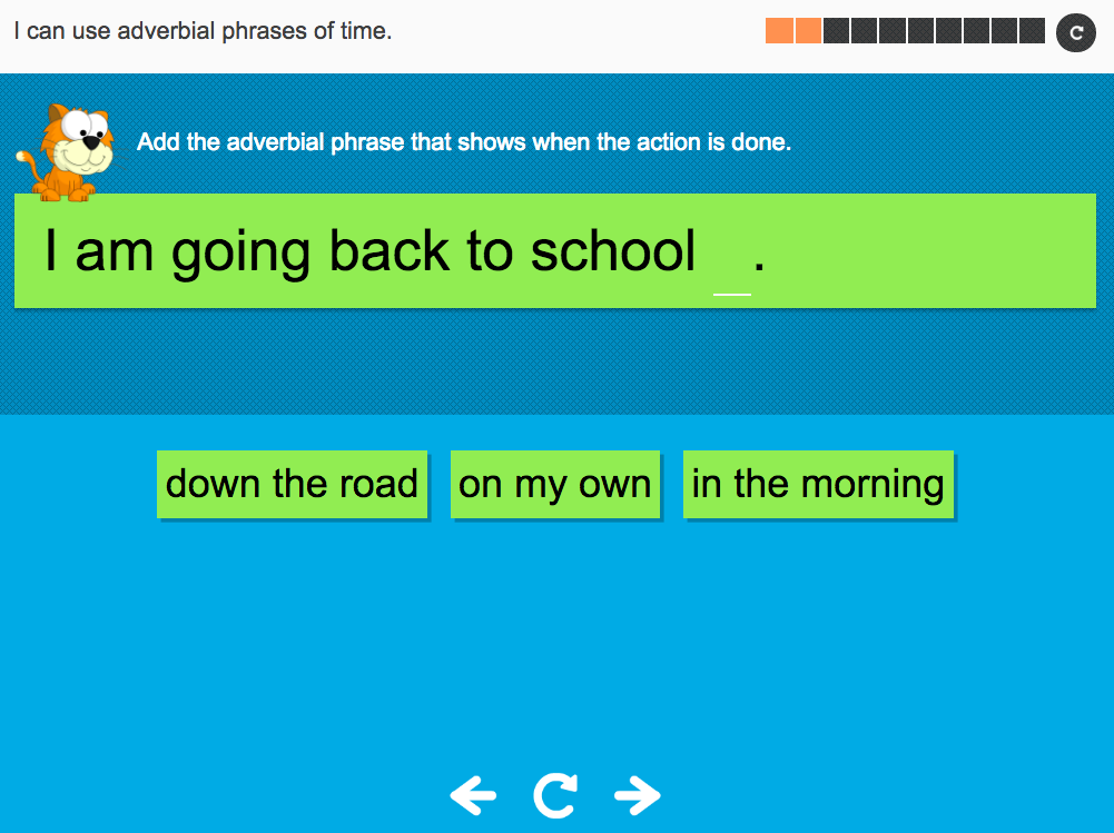 I can use adverbial phrases of time - Interactive Activity - Year 4 Spag