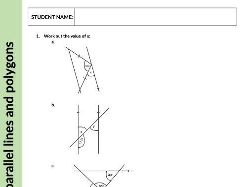 Angles in parallel lines and polygons - Geometry & Measures - KS3