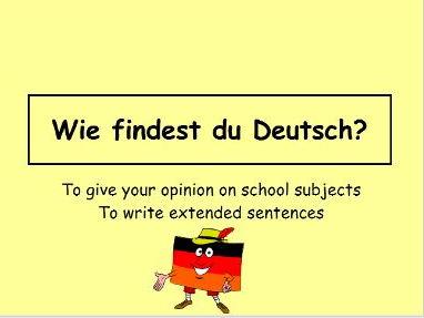 Wie findest du Deutsch?