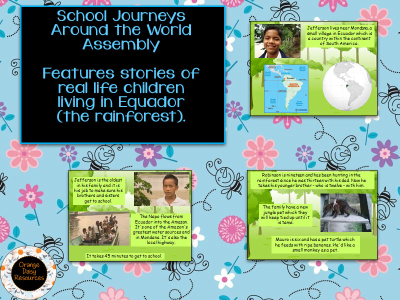 School Journey in the Rainforest Assembly KS1 / KS2