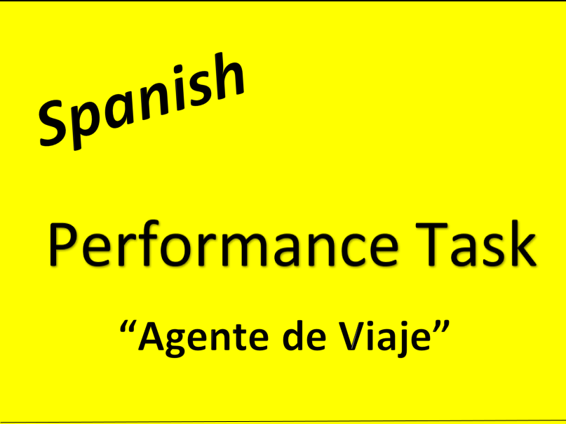 Spanish Research Project Travel Unit Performance Task Levels 3 or 4 El Viaje