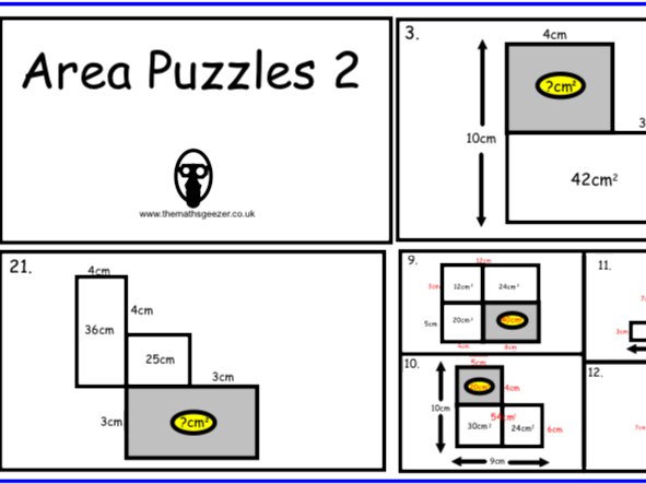 Area Puzzles 2 - PowerPoint