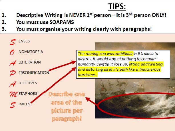 Descriptive Writing - AQA English Language Paper 1: Section B