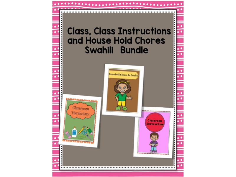 Class,Class Instruction And House Hold Swahili Bundle