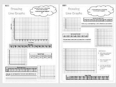 Drawing Line Graphs Differentiated Worksheets - Data/Statistics - KS2