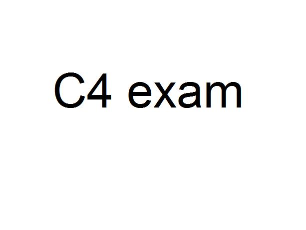 C4 exam paper