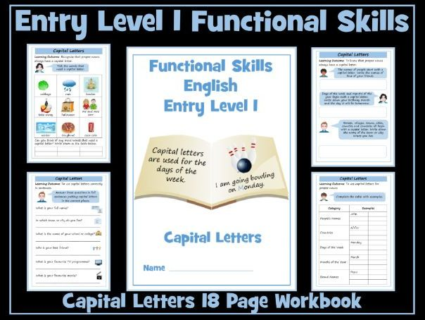Entry Level 1 Functional Skills English - Writing - Capital Letters