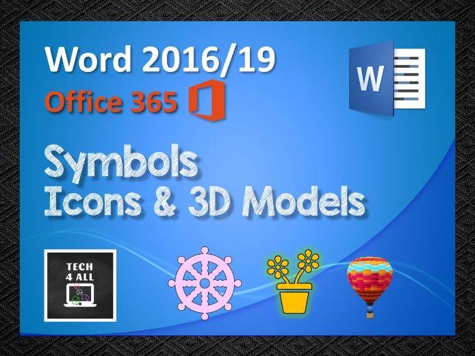Microsoft Word: Symbols, Icons & 3D Models