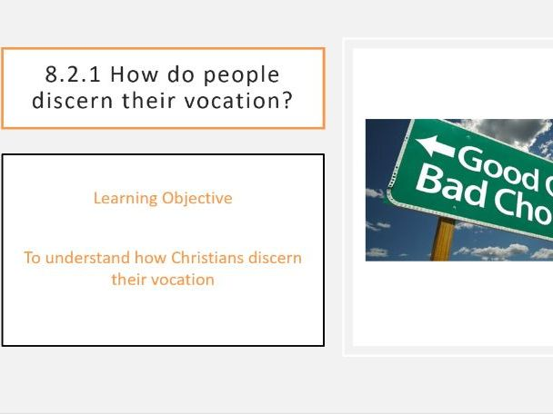 8.2.2 How do people discern their vocation?
