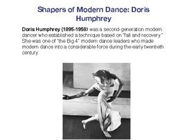 The Shapers of Dance: Doris Humphrey