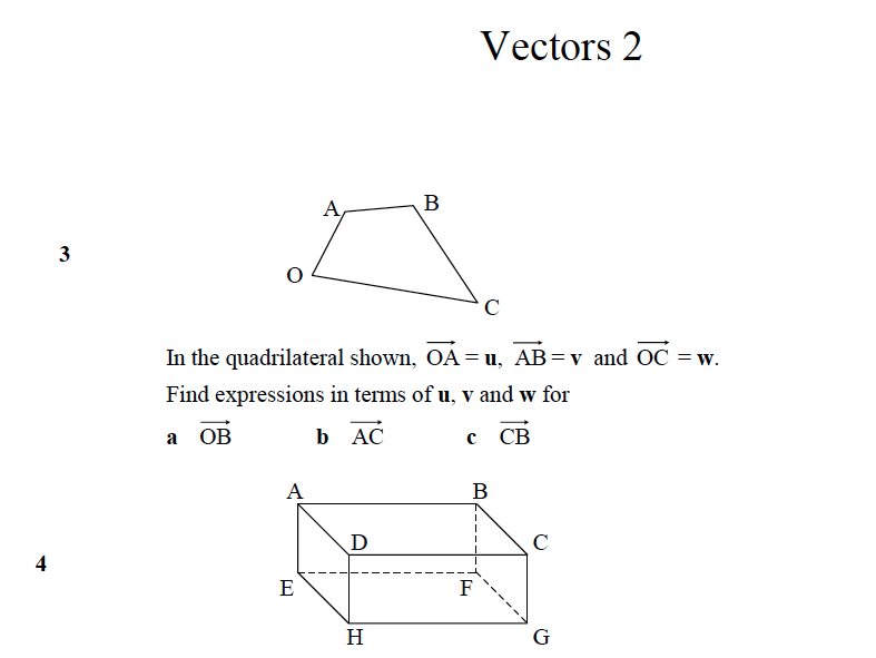 GCSE Maths Revision Vectors 2