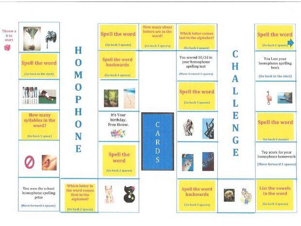 Homophone Spelling Board Game Bundle