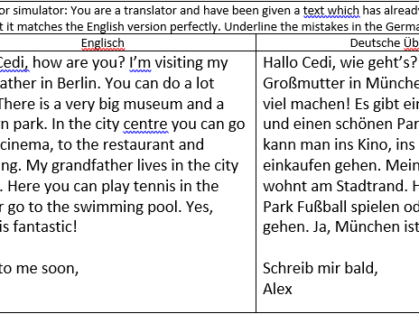 Stadt - spot mistakes in translation
