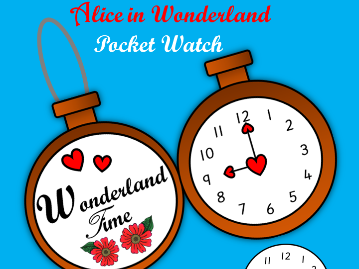 Make Your Own Alice In Wonderland Pocket Watch