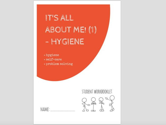 SPECIAL EDUCATION - ALL ABOUT ME (1) - HYGIENE workbooklet