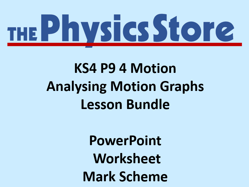 KS4 GCSE Physics AQA P9 4 Analysing Motion Graphs Lesson Bundle