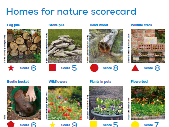 Homes for nature scorecard + Welsh bilingual version