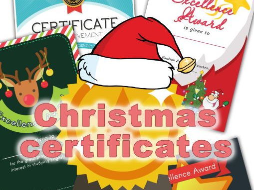 christmas end of term certificates by olynj teaching resources tes