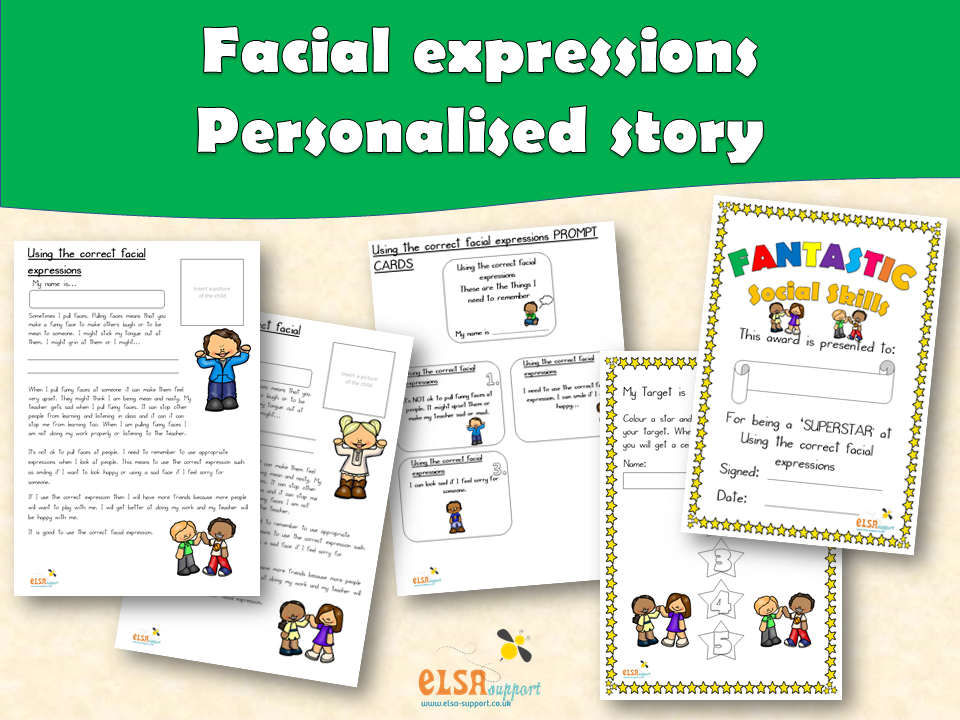 ELSA SUPPORT - Personalised story - Correct facial expressions