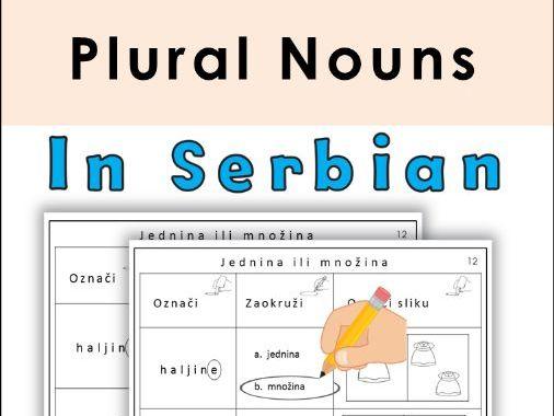 Serbian Plural Nouns Latin Alphabet