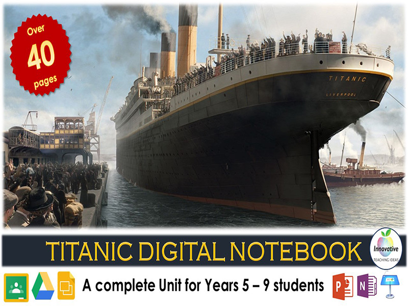 Titanic Digital Notebook (TITANIC Interactive Unit of Work)