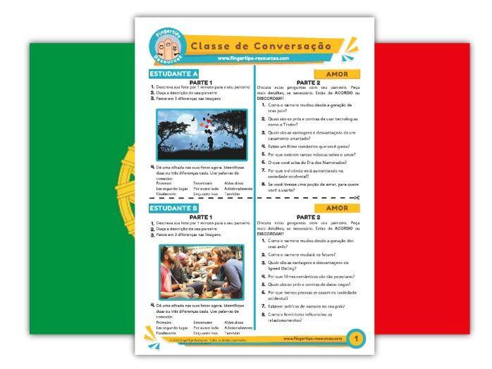 Amor - Portuguese Speaking Activity