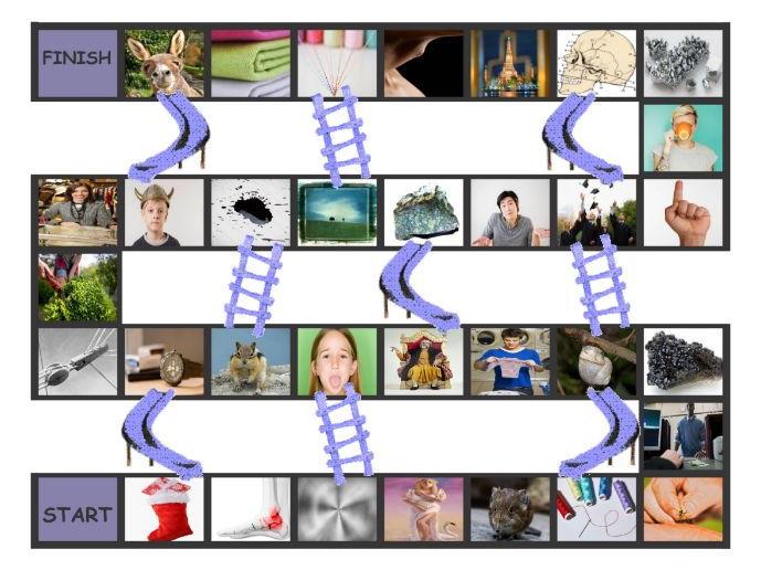 Phonics 2-3 Letter Digraphs ng-nk-chr-phr-shr-thr Chutes-Ladders Game