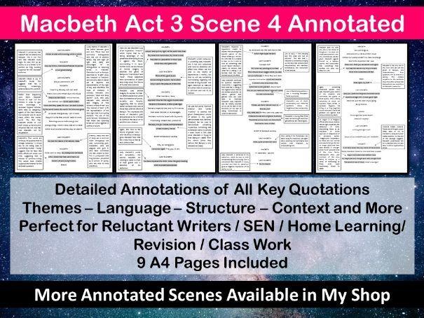 Macbeth Act 3 Scene 4 Annotated