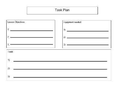 Task plan for SEN/ASD