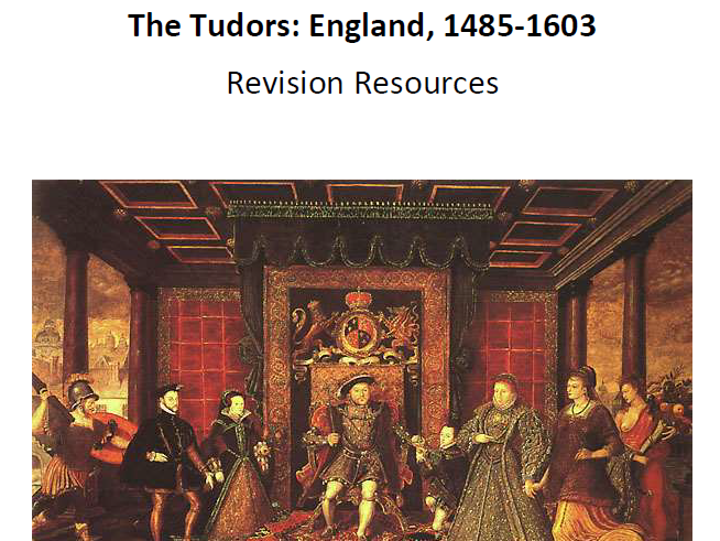 AQA A-Level Tudors Revision Booklet