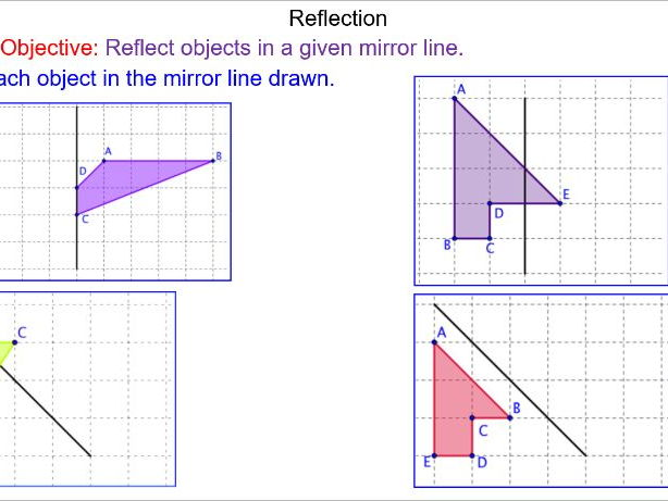 Reflective Symmetry and Lines of Reflection