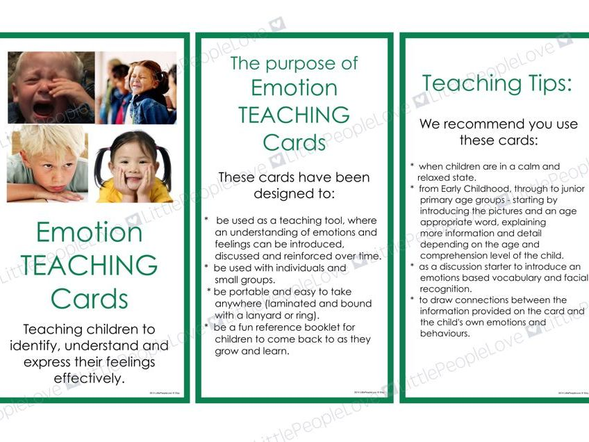 Emotion TEACHING Card Set