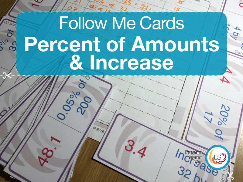 Percentage Increase and Decrease | Follow Me Cards