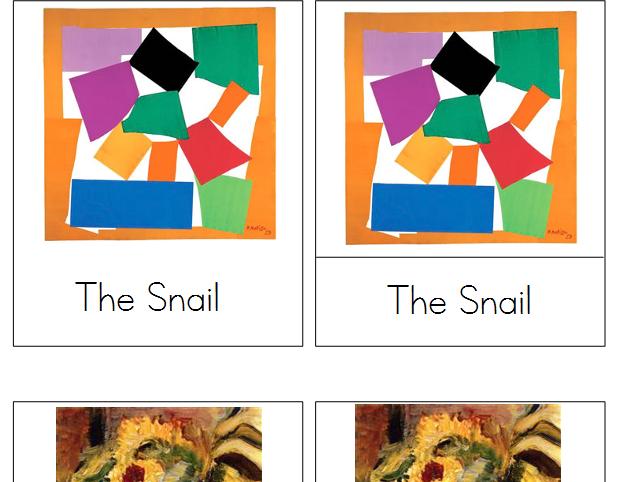 Henri Matisse Montessori Art Cards