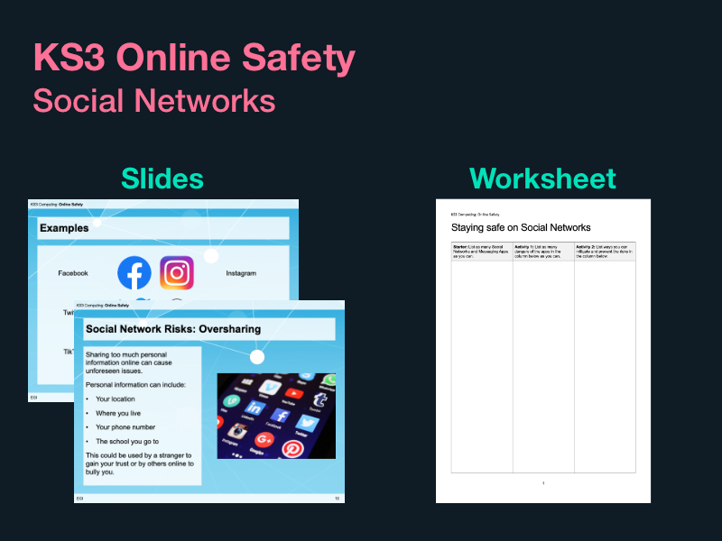 KS3 Online Safety - Social Networks / Social Media