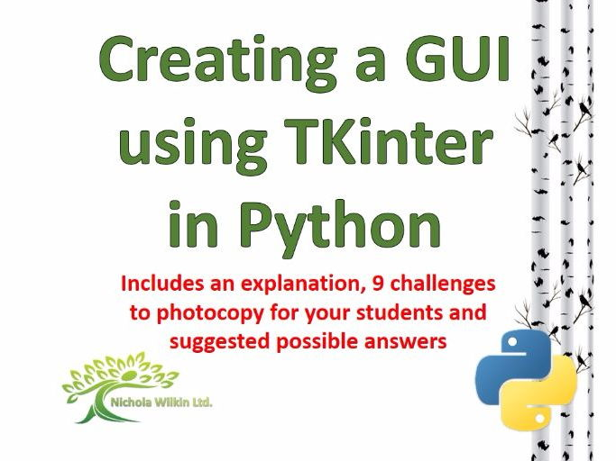 Creating a GUI using TKinter in Python
