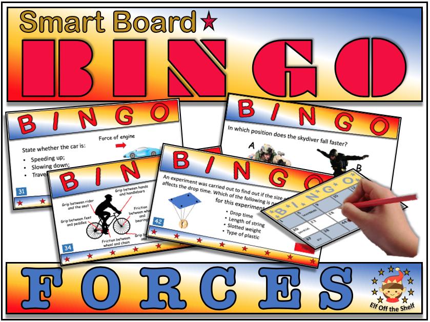 Forces Smart Board Bingo KS3