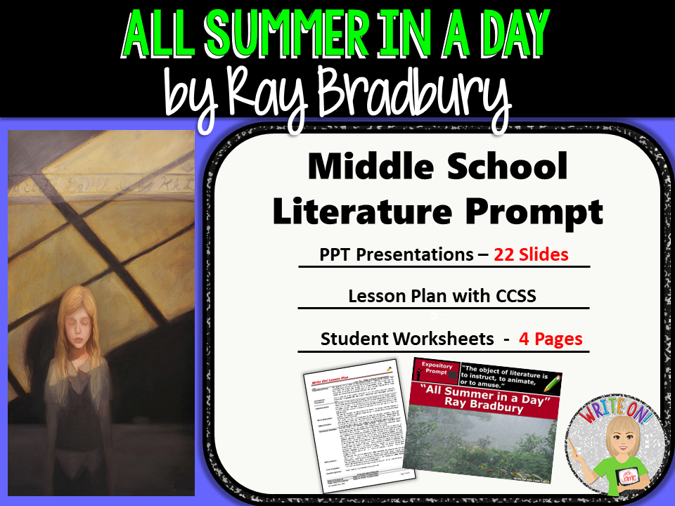 All Summer in a Day by Ray Bradbury Text Dependent Analysis – All Summer in a Day Worksheet