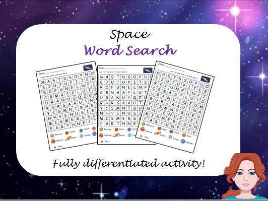 Space - wordsearch (differentiated)