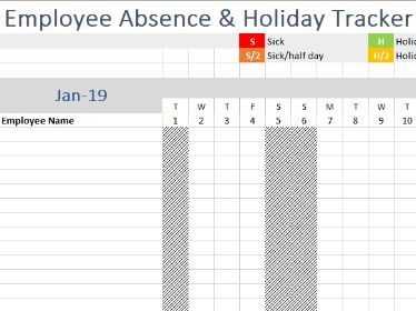 Staff Attendance Tracker (holiday entitlement, absence/sickness management etc)