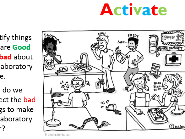 Practical Licence Year 7 Introduction to Practicals lesson 1 – Lab Safety Cartoon Worksheet