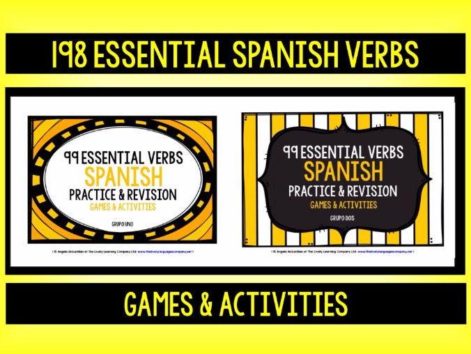 SPANISH VERBS (1 & 2) - PRACTICE & REVISION - 198 ESSENTIAL VERBS