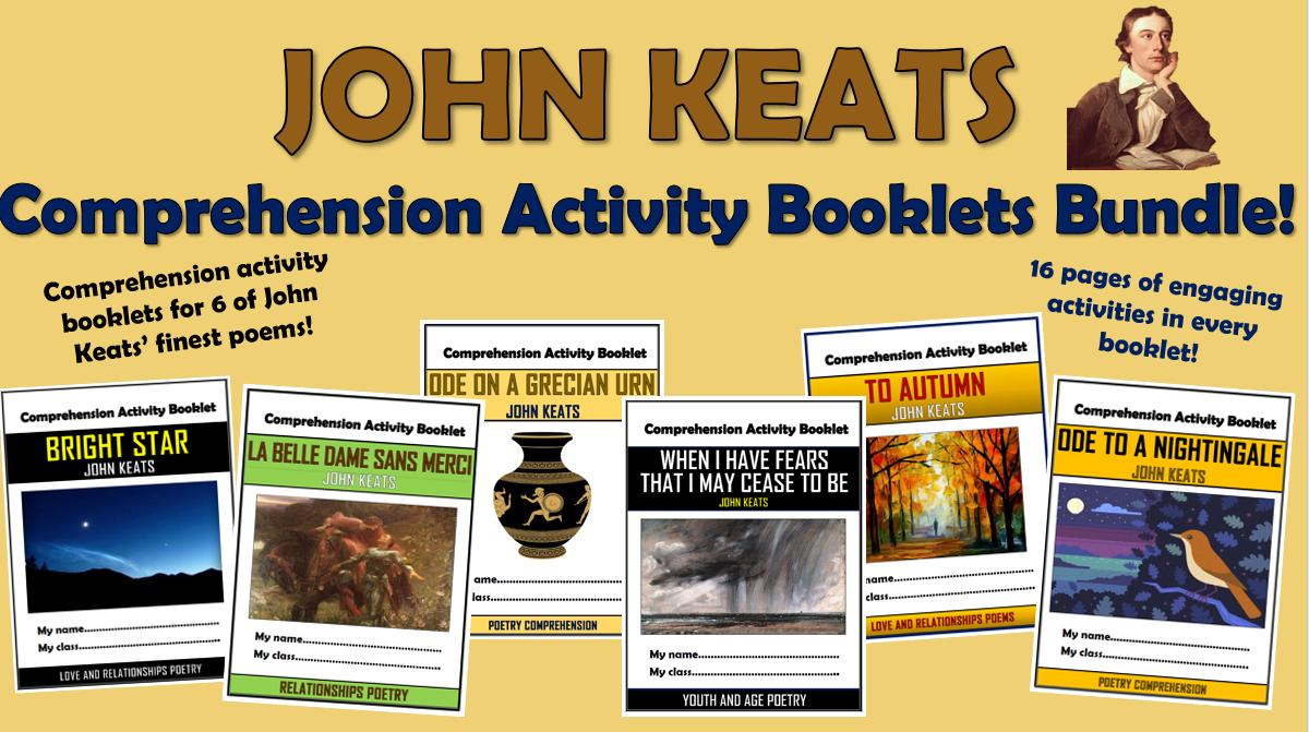 John Keats Poetry - Comprehension Activity Booklets!