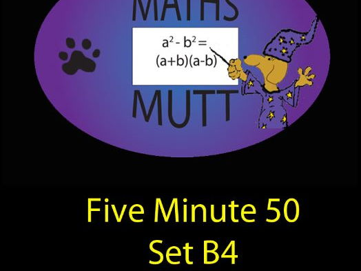Numeracy Questions: Five Minute Fifty Set B4