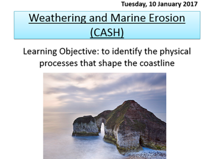 Coastal landscapes in the UK scheme of work – New AQA-A GCSE 1-9. CREATED BY AQA EXAMINER