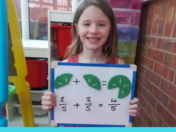 Adding fractions with the same denominator