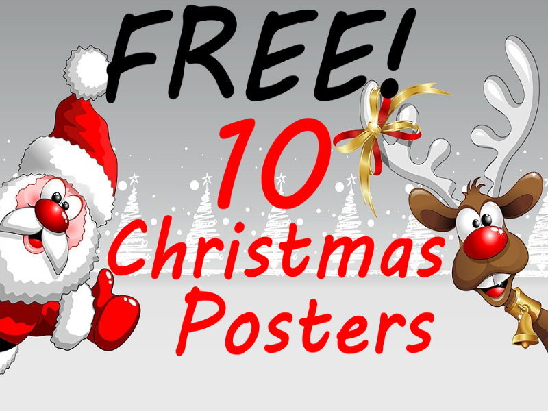 10 FREE Christmas Posters to brighten up any primary school classroom!